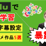 【huluで英語学習】英語字幕の設定とおススメ作品5選を徹底解説!