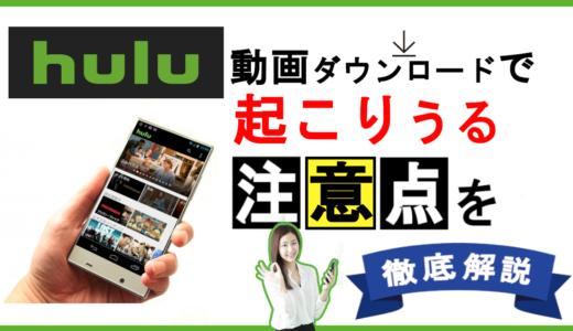 huluの動画ダウンロード保存と、できない場合の対処法を解説!
