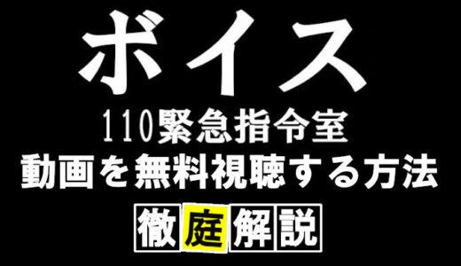 【ドラマボイス/日本版2019】動画配信&再放送まとめ!全話フルで無料視聴する方法を解説!