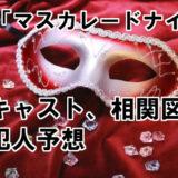 【マスカレードナイト】キャスト相関図、犯人役予想をまとめて解説!